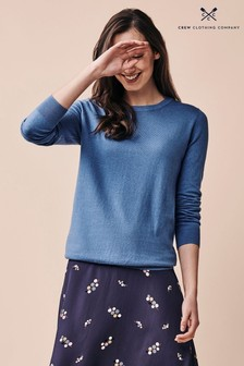 Crew Clothing Company Blue Foxy Crew Neck Jumper