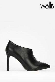 Wallis Black Prince Whipstitch Shoe Boots
