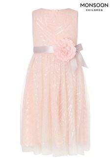Monsoon Sequin Pattern Dress