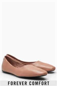 Signature Leather Ballerinas