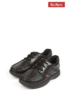 Kickers® Black Reasan Lace Shoes