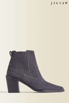 Jigsaw Blue Adrienne Suede Ankle Boots