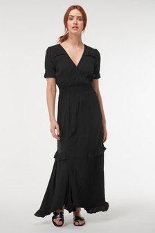 Shirred Maxi Dress
