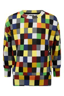 Boys Multicoloured Organic Cotton Pixels Sweater