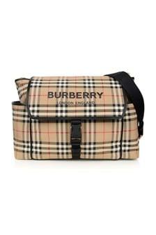 Burberry Kids Beige Vintage Check Changing Bag