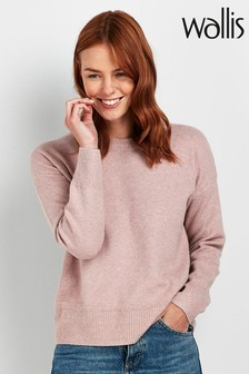 Wallis Blush Crew Neck Jumper