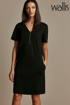 Wallis Black Ponte Dress