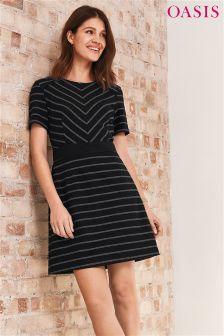 Oasis Cut-About Stripe Dress
