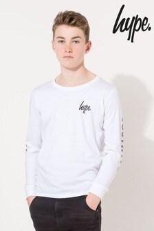 Hype. Checkerboard Mini Script Kids L/S T-Shirt