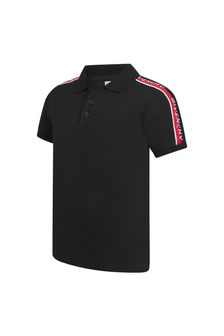 Givenchy Kids Boys Black Cotton Polo Shirt