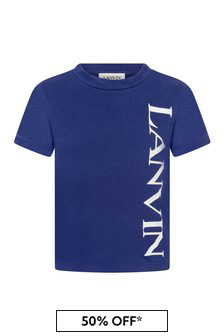 Lanvin Boys Blue Cotton T-Shirt
