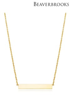 Beaverbrooks 9ct Gold Bar Necklace