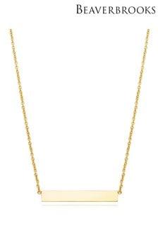 Beaverbrooks 9ct Gold Bar Necklace