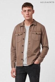 AllSaints Mushroom Brown Casual Overshirt