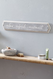 Relax Wooden Wall Plaque
