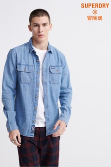 Superdry Merchant Milled Lite Long Sleeved Shirt