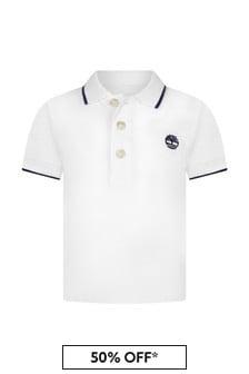 Timberland Baby White Cotton Polo Shirt