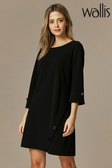 Wallis Petite Black Scuba Dress