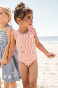 Stripe Broderie Swimsuit (3mths-6yrs)