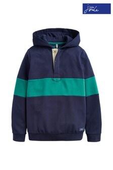 Joules Blue Kingsley Overhead Rugby Sweatshirt