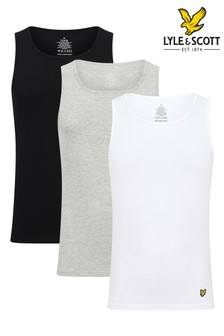 Lyle & Scott Black Lounge Vests Three Pack