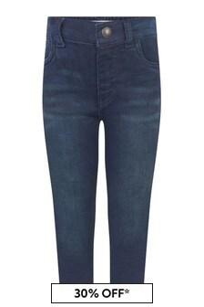Levis Kidswear Baby Boys Dark Blue Cotton Skinny Fit Pull-On Jeans