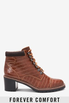 Forever Comfort® Heeled Hiker Boots