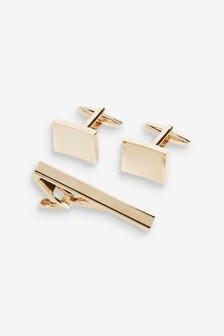 Rose Gold Tone Cufflink Set