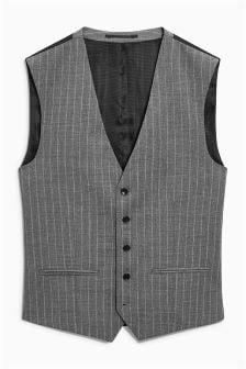 Коллекционный костюм приталенного кроя в полоску: жилет