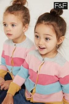 F&F Knitted Bright Stripe Cardigan