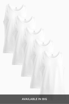 Vests Pure Cotton Five Pack