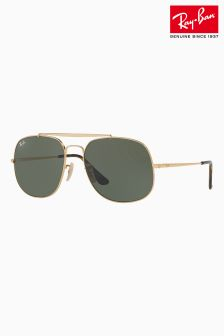 Ray-Ban® Black Gold General Aviator Sunglasses
