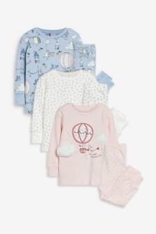 3 Pack Balloon Snuggle Pyjamas (9mths-8yrs)