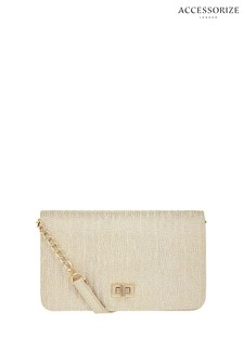 Accessorize Metallic Sasha Quilted Cross Body Bag