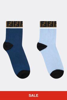 Fendi Kids Multicoloured Cotton Socks Set