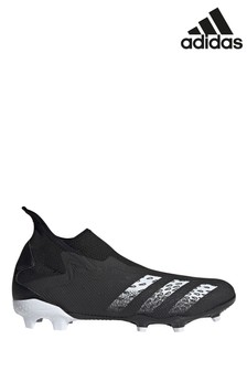 adidas Black Predator P3 Laceless Firm Ground Football Boots