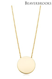 Beaverbrooks 9ct Gold Disc Necklace
