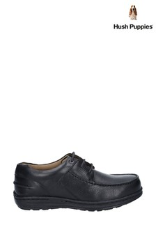 Hush Puppies Black Winston Causal Lace-Up Moccasin Shoes