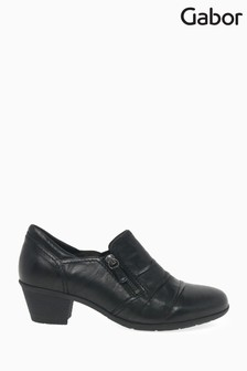Gabor Black Sherbert Leather Casual Trouser Shoes