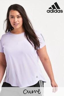 adidas Curve Lilac Own The Run T-Shirt