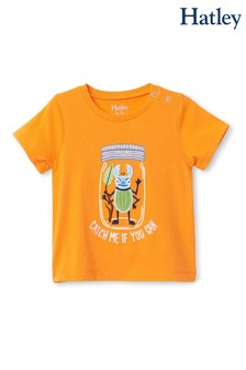 Hatley Orange Beetle Buddy Baby Graphic T-Shirt
