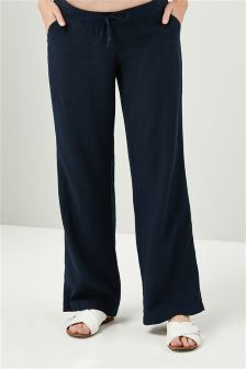 Maternity Linen Blend Trousers