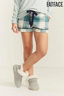 FatFace Green Penguin Jacquard Shorts