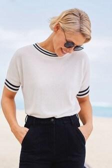 Emma Willis Crew Neck Knitted T-Shirt