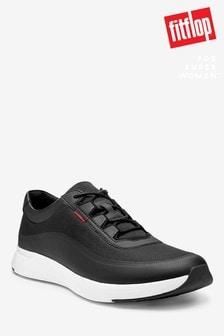 FitFlop™ Black Farren Crosshatch Sneakers