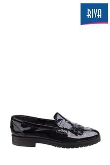 Riva Black Olympia Ladies Loafers