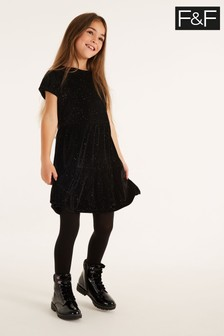 F&F Black Party Velvet Dress
