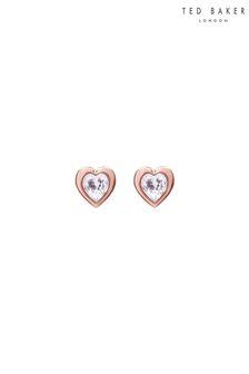 Ted Baker Pink Han Crystal Heart Earrings