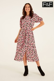 F&F Romantic Floral Midi Dress