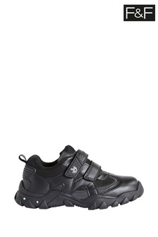 F&F Black Football Light Up Twin Strap Shoes